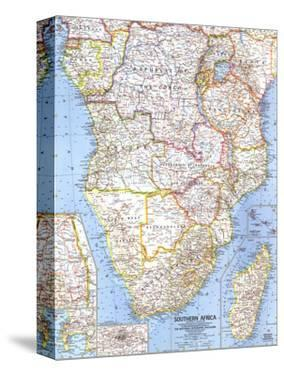1962 Southern Africa Map by National Geographic Maps