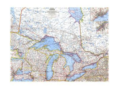 1963 Central Canada by National Geographic Maps