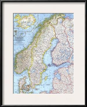 National geographic maps poster frames for sale at allposters 1963 scandinavia map by national geographic maps gumiabroncs Images