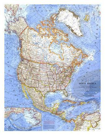 Maps Of North America Posters At AllPosterscom - North america maps