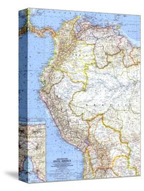 1964 Northwestern South America Map by National Geographic Maps