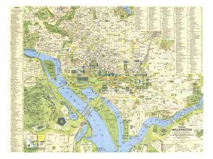 1964 Tourist Washington Map by National Geographic Maps
