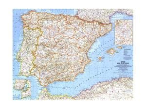 1965 Spain and Portugal by National Geographic Maps