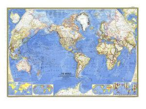 World maps framed art for sale at allposters 1965 world mapnational geographic maps gumiabroncs Image collections