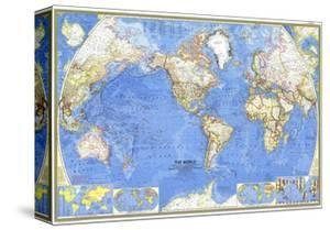 1965 World Map by National Geographic Maps