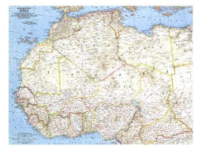 1966 Northwestern Africa Map by National Geographic Maps