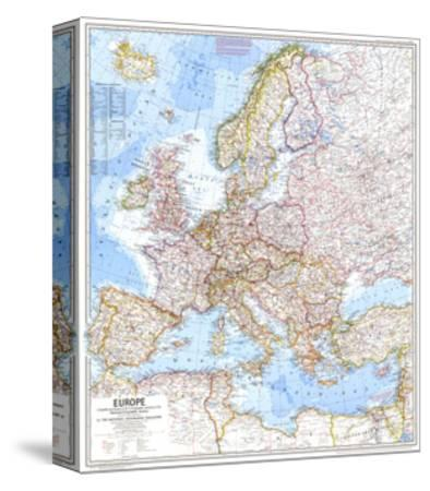 1969 Europe Map by National Geographic Maps