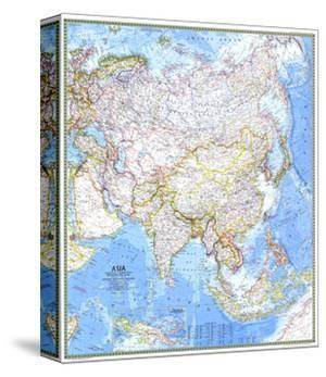 1971 Asia Map by National Geographic Maps
