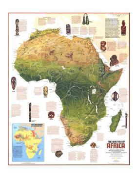 1971 Heritage of Africa Map by National Geographic Maps