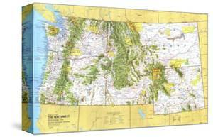 1973 Close-up USA, Northwest Map by National Geographic Maps