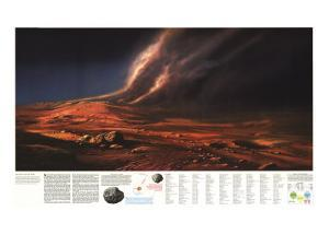 1973 Dusty Face of Mars by National Geographic Maps