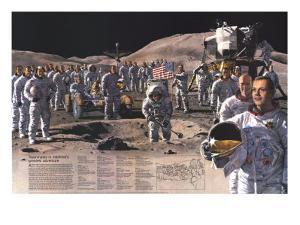 1973 Teammates in Mankinds Greatest Adventure by National Geographic Maps