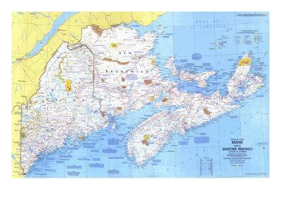 Maps Of Maine Posters At AllPosterscom - Maine in usa map