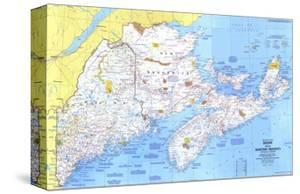 1975 Close-up USA, Maine Map by National Geographic Maps