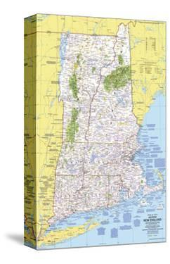 1975 Close-up USA, Western New England Map by National Geographic Maps