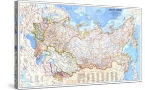 1976 Soviet Union Map by National Geographic Maps