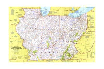 Maps Of Indiana Posters At AllPosterscom - Indiana maps