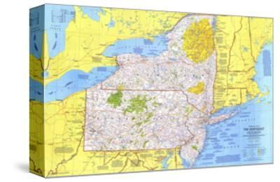 1978 Close-up USA, Northeast Map by National Geographic Maps