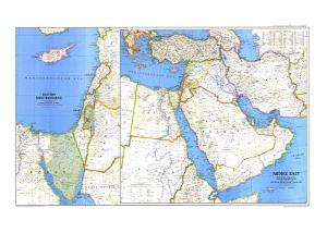 1978 Middle East Map by National Geographic Maps