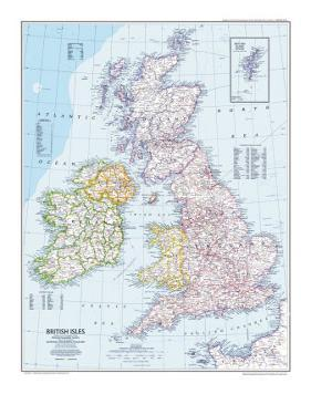1979 British Isles Map by National Geographic Maps