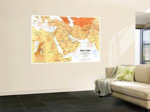 1980 Mideast in Turmoil Map by National Geographic Maps