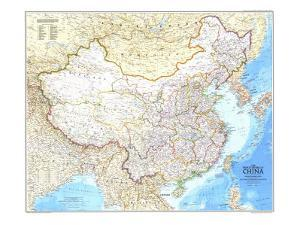 1980 Peoples Republic of China Map by National Geographic Maps