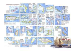 1981 Tourist Islands of the West Indies Map by National Geographic Maps