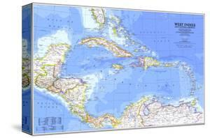 Maps of the caribbean posters for sale at allposters 1981 west indies and central america map gumiabroncs Gallery