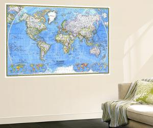1981 World Map by National Geographic Maps