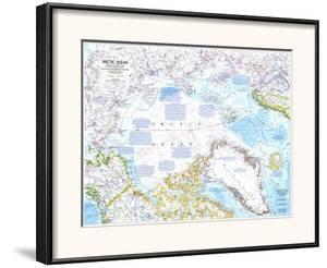 1983 Arctic Ocean Map by National Geographic Maps