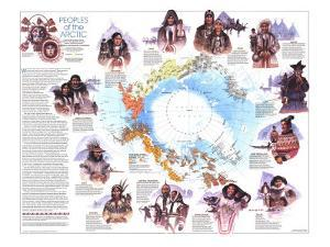 1983 Peoples of the Arctic Map by National Geographic Maps