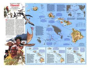 1983 The Making of America, Hawaii Theme by National Geographic Maps
