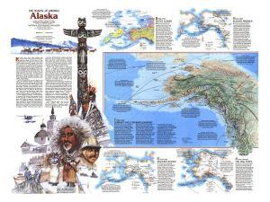 1984 The Making of America, Alaska Theme by National Geographic Maps