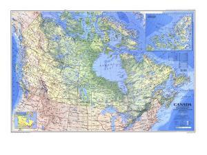 1985 Canada Map by National Geographic Maps