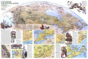 1985 Canada Vacationlands Map by National Geographic Maps
