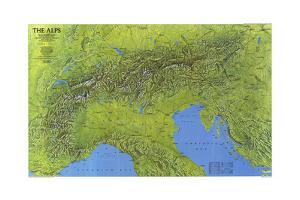 1985 The Alps by National Geographic Maps