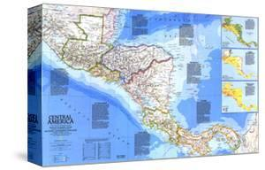 1986 Central America Map by National Geographic Maps