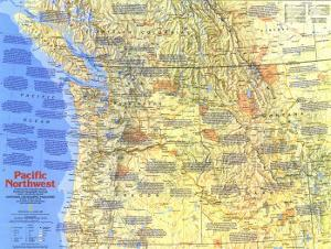 1986 Pacific Northwest Map Side 1 by National Geographic Maps