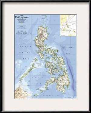 1986 Philippines Map by National Geographic Maps