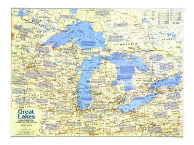 Great Lakes Posters for sale at AllPosterscom