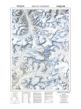 1988 Mount Everest by National Geographic Maps