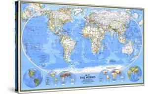 1988 World Map by National Geographic Maps