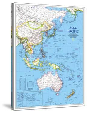 1989 Asia-Pacific Map by National Geographic Maps