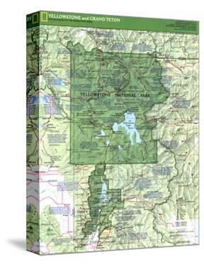 1989 Yellowstone and Grand Teton Map Side 1 by National Geographic Maps