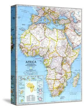 1990 Africa Map by National Geographic Maps