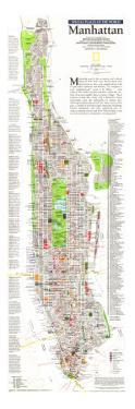 1990 Manhattan Map by National Geographic Maps
