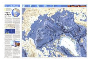 1990 World Ocean Floors, Arctic Ocean Map by National Geographic Maps