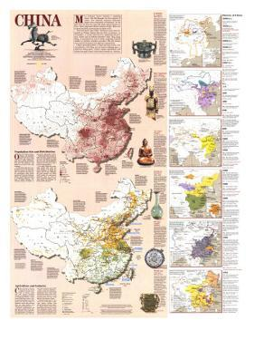 1991 China History Map by National Geographic Maps