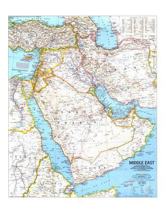 Maps of The Middle East Posters at AllPosterscom