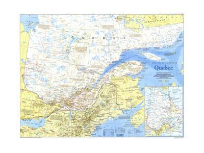 1991 Quebec Map by National Geographic Maps